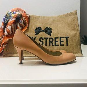 L.K. Bennett cream/ tan heels